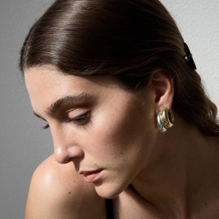Leigh Miller Jewelry Bubble Hoops - Brass
