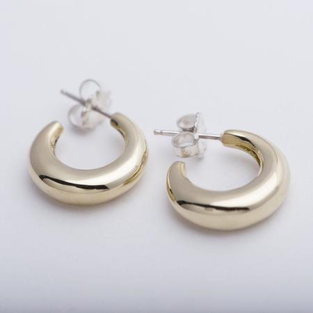 Leigh Miller Jewelry Mini Bubble Hoops - Brass