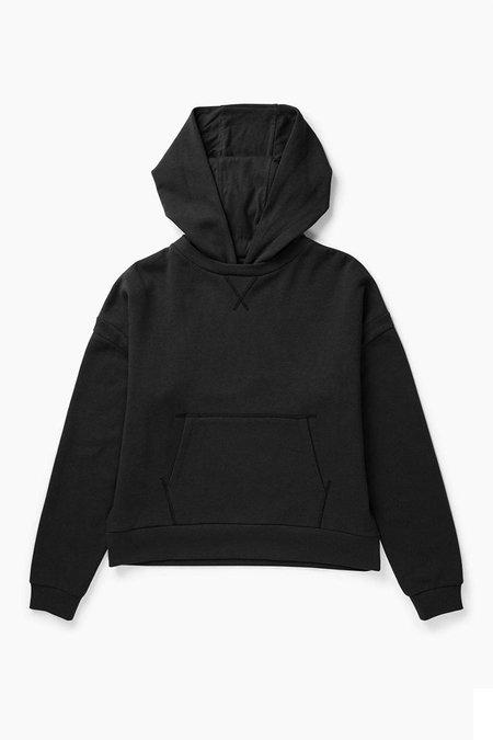 Unisex Richer Poorer Pullover Recycled Fleece Hoodie - Black