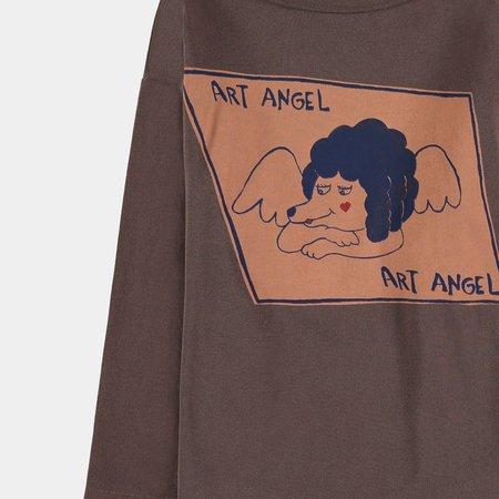 Kids Fresh Dinosaurs Art Angel Long Sleeve
