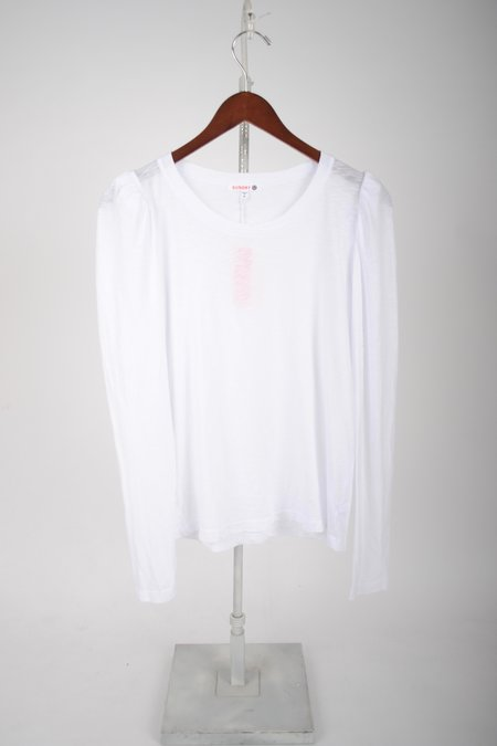 Sundry Puff Shoulder Long Sleeve - White