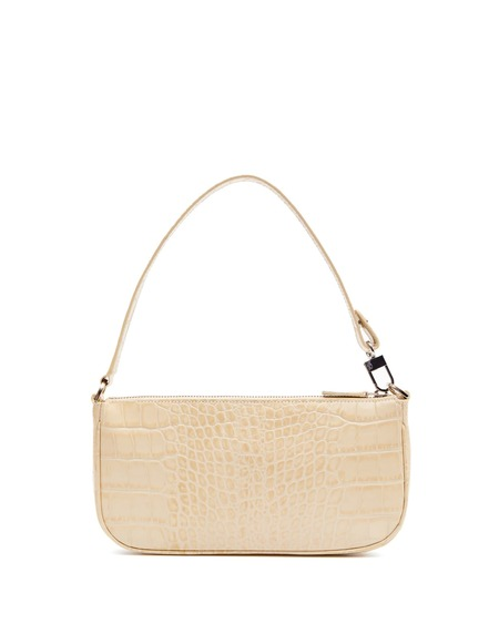By FAR Cocco Print Shoulder Bag - Cream