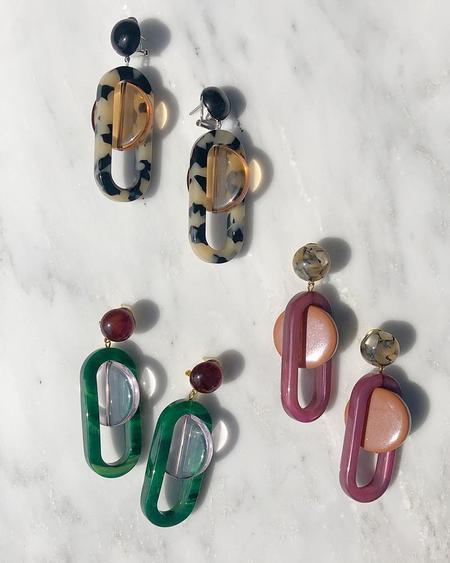 Rachel Comey Lohr earrings - burnt orange/purple