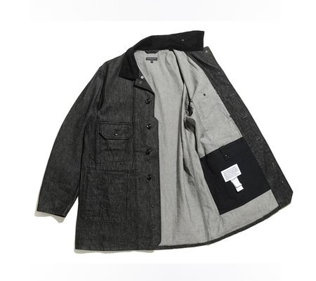 Engineered Garments Long Logger 12oz Cone Denim Jacket - Black