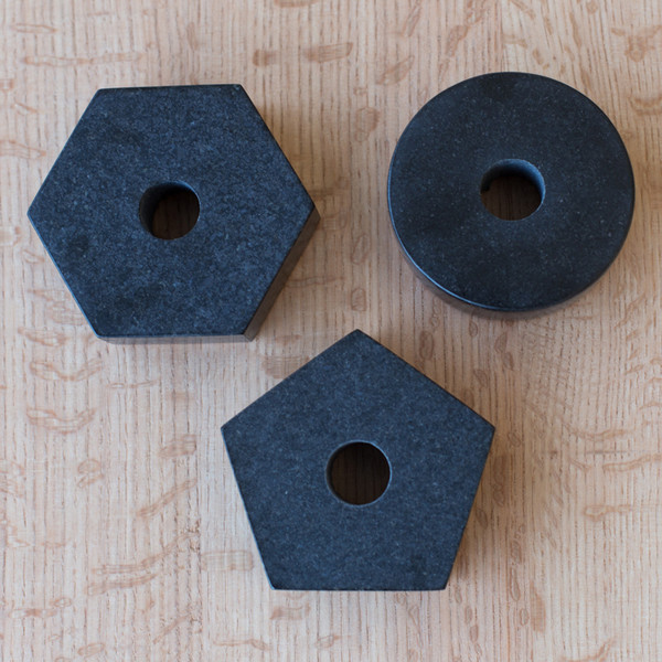 Fort Standard Black Granite Candle Holder