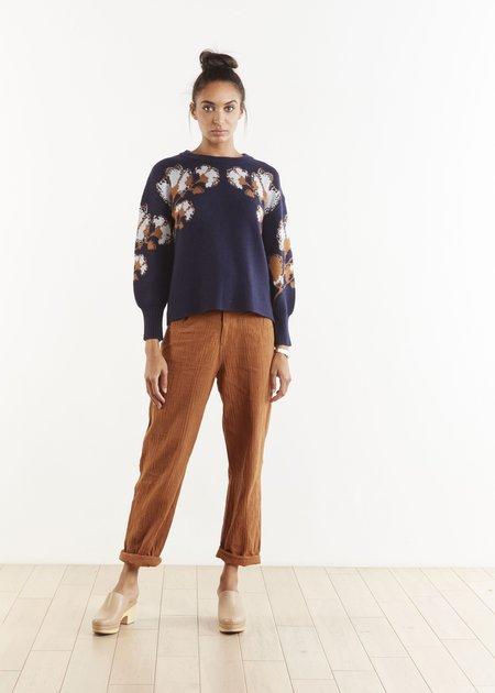 THE ODELLS Jaya Floral Sweater - Coastal