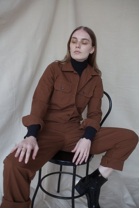 Naked & Famous Work Jumpsuit - Camel