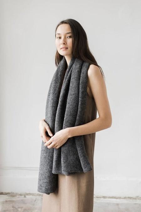 Bare Knitwear Travel Wrap - Dark Charcoal
