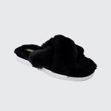 Dolce Vita Pillar Faux Fur Slipper - Black