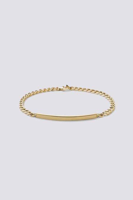 Miansai ID Chain Bracelet - Gold Vermeil