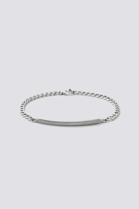 Miansai ID Chain Bracelet - Sterling Silver Matte