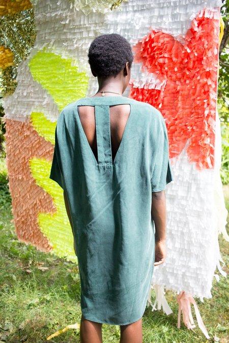 Valerie Dumaine Lavan Dress - Emerald