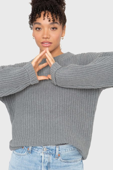 Callahan The Boyfriend Sweater - Heather Grey
