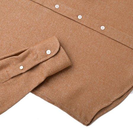 Outclass Tweed Flannel Shirt - Camel
