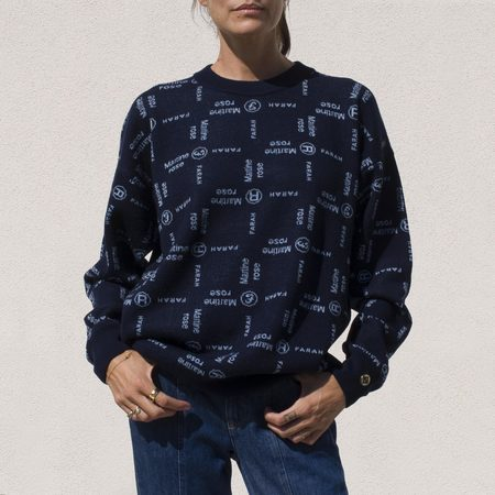 Martine Rose Optimo Knit - Night Sky