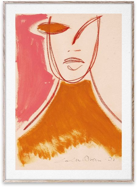 Paper Collective Pink Portrait Print by Loulou Avenue