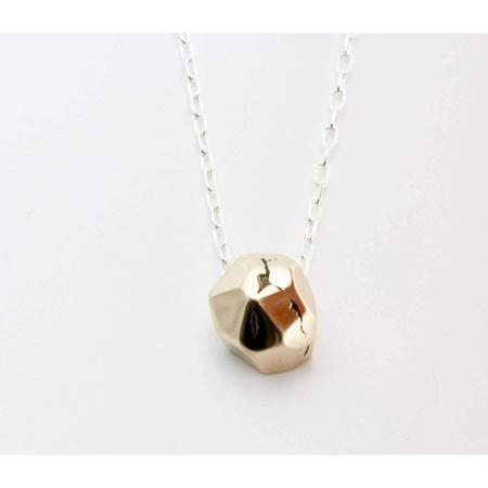Upper Metal Class m-Perfect Facet Necklace - Bronze/Sterling Silver
