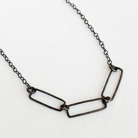 Nancy Yuan Triple Geometric Necklace - Oxidized Silver