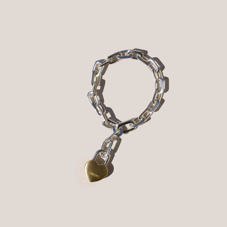 Ambush Small Heart Padlock Chain Bracelet