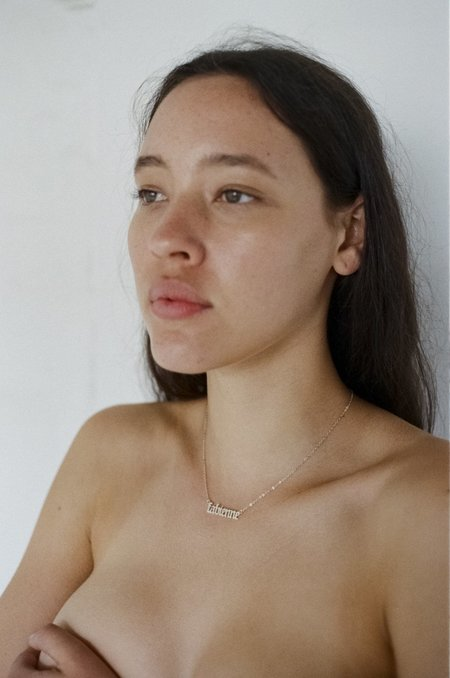 THENINETYNINE Custom Nameplate Necklace
