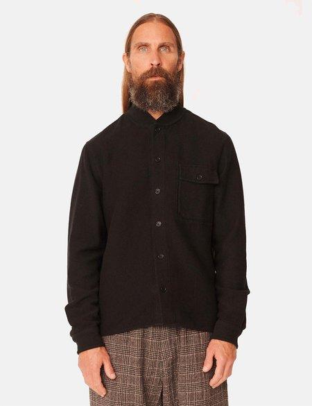 YMC Delinquents Rib Collar Shirt - Black