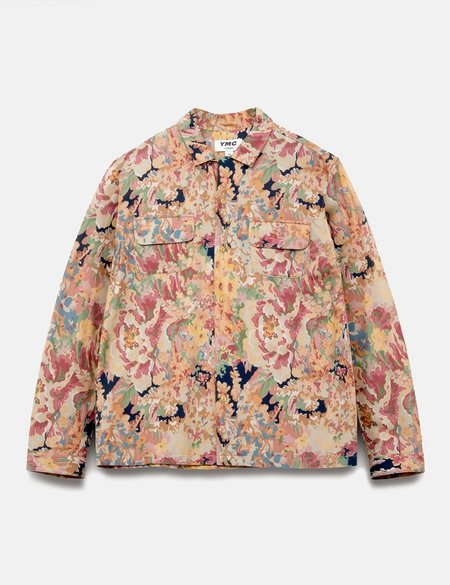 YMC Floral Feathers Shirt - Brown/Multi