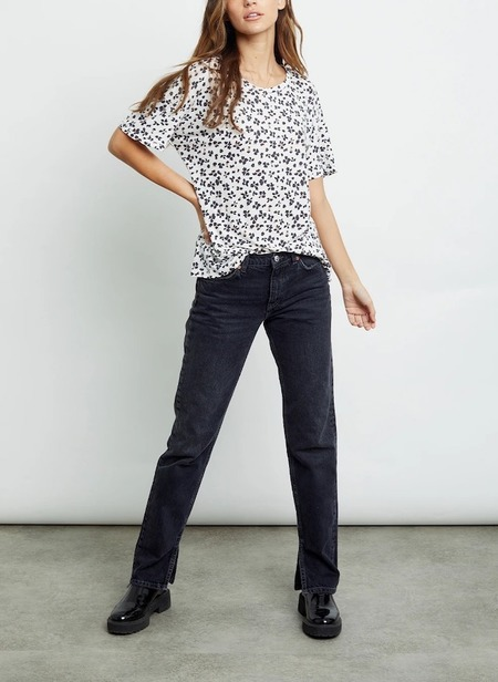Rails Meli Tee in Ivory Floral Cheetah
