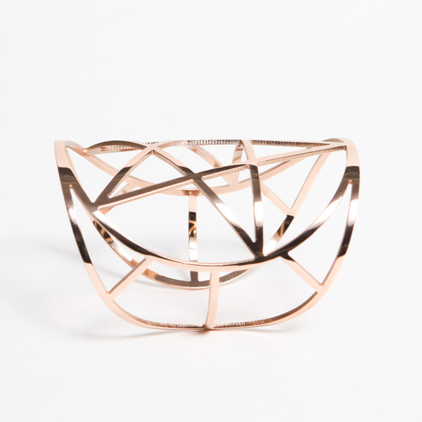 Mini Pentagram Cuff, Rose Gold