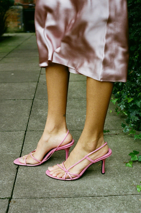 Vintage HUMAN SEA VINTAGE X JOAN Pink Strap Sandals - PINK