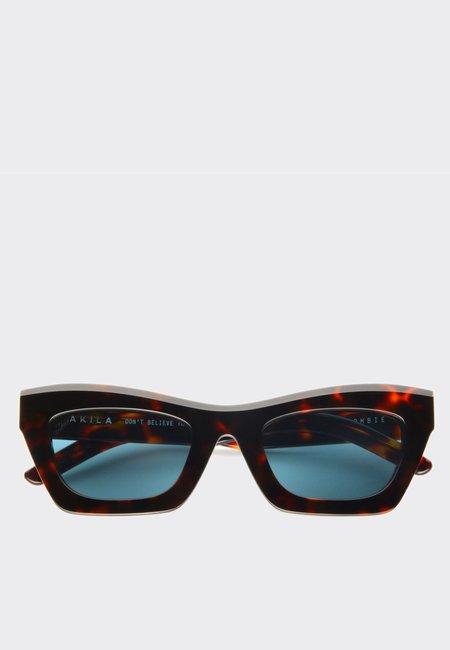 AKILA Zombie Sunglasses - Tortoise/Teal