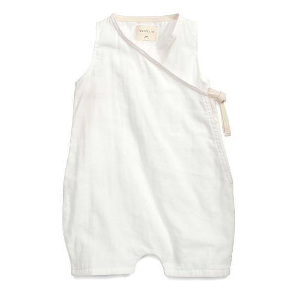 Bacabuche Kimono Baby Romper White