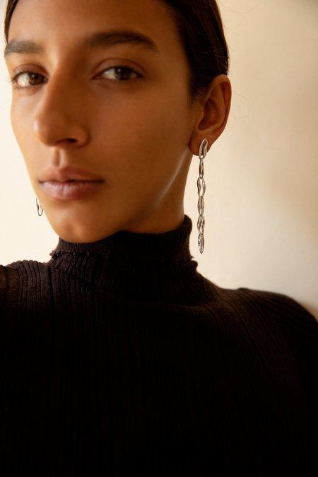 Leigh Miller Chain Earrings - Brass