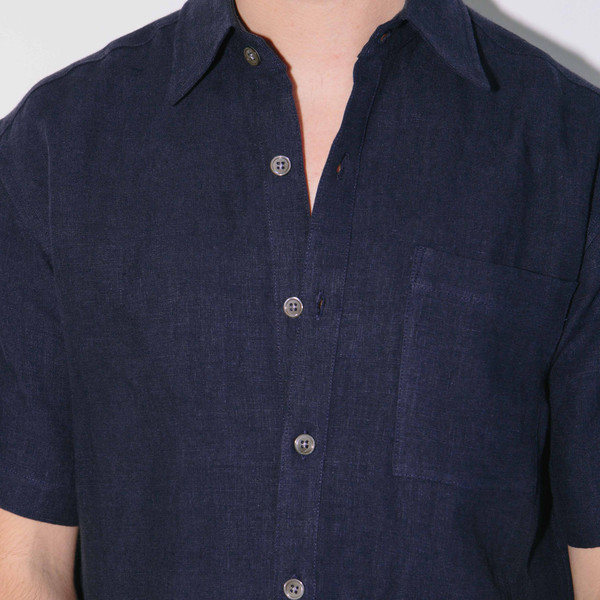 Blluemade Short-Sleeve Linen Shirt