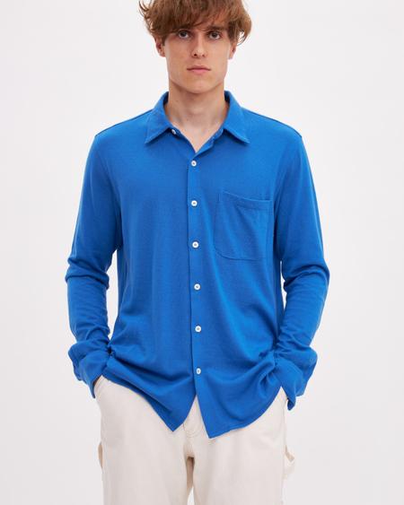 Bellariva Cashmere Shirt - Cobalt