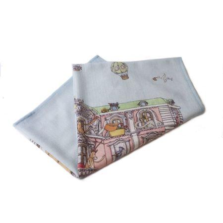 KIDS Atelier Choux Monceau Mansion Cashmere Blanket - blue