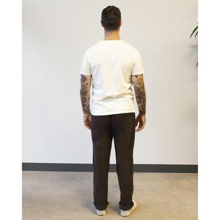 Knickerbocker Flat Front Tapered Trouser in Corduroy - Dark Hazel