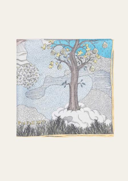 Stine Goya Tilda Scarf - Dreamscape Aqua