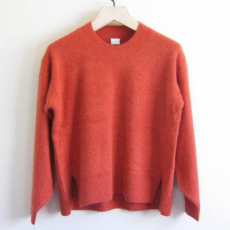 CT Plage brushed wool sweater - red orange