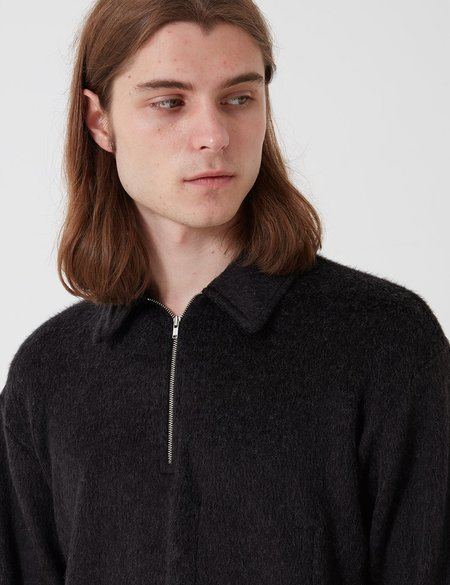 Lady White Co. Furry Quarter Zip sweater - Black