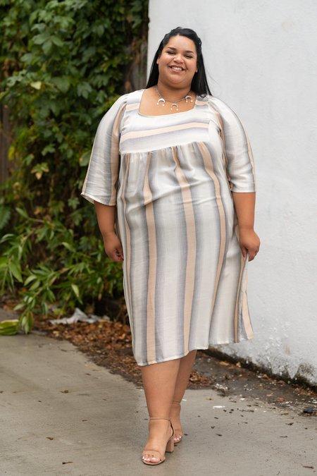 Altar Houseline Ulla Dress - Peach Stripe