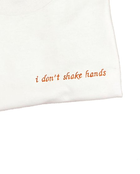 unisex house of 950 i don't shake hands embroidery tee shirt