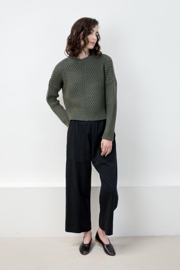 Micaela Greg Olive Bevel Sweater