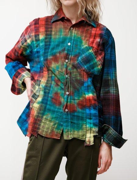 Needles Rebuild Flannel Shirt 7 Cuts Shirt - Tie Dye