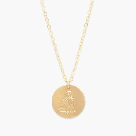 Able She's Worth more Portrait Heirloom Necklace - gold
