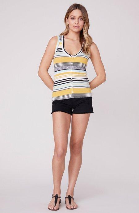 BB Dakota Knit's So You Stripe Tank - Lemon Drop