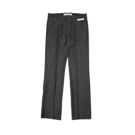 OFF-WHITE Pleated flair tailored pants - grey