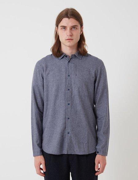 Folk Clothing Folk Stitch Pocket Shirt - Brushed Blue Melange