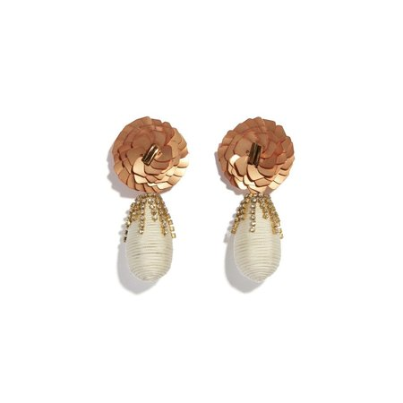 Lizzie Fortunato Pavilion Earrings - Gold-plated brass/ crystal