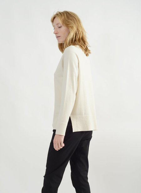 Meg Basic Mock Neck Sweater - Ivory