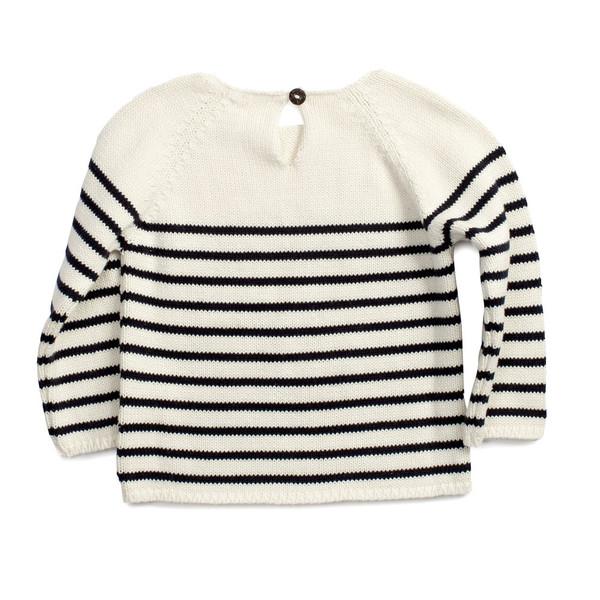 Oeuf Stripe Sweater Navy Stripe